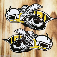"Us car pegatina ""Super Bee"" Dodge muscle car v8 sticker Rumble Bee pickup v6"