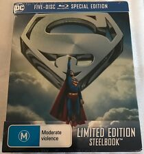 Superman Anthology Blu Ray - & 5 Disc Limited Ed Steelbook Post