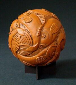 Fish - Buchenholz M. C. ESCHER Kugel Parastone Museumsedition ESC04 Skulptur