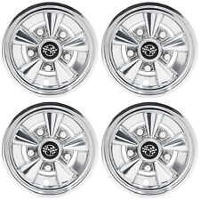 Set of 4 Golf Cart 8 inch Rally Chrome Wheel Covers Hub Caps Universal Fit