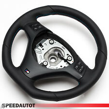 Aplatie Volant BMW M-Power e90 e91 Neuf Cuir Panneau multfu Noir