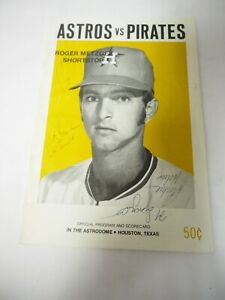 Houston Astros vs Pittsburg Pirates Souvenir Program Scorecard 6 Autographs 1973
