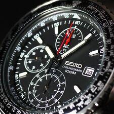 SEIKO PILOT SND253 SND253P1 SND253PC Black Men's Watch from Japan Import