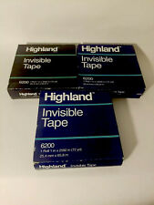 Three Highland Invisible Tape 1inch X 2592inch 3inch Core