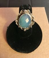 New Sundance Catalog Blue By You Ring 5 Chalcedony/Sterling Silver