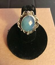 New Sundance Catalog Blue By You Ring 6 Chalcedony/Sterling Silver