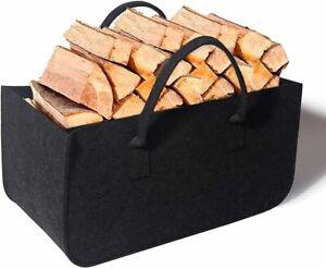 Filz Kaminholz Tasche für Holz Zeitungs Korb Shopper Einkaufs Tragetasche Stoff