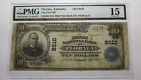 $10 1902 Florala Alabama AL National Currency Bank Note Bill Ch.#8910 PMG FINE!