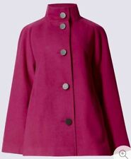 M & S Collection Ladies Trapeze Cape Coat Raspberry / Red Size 8 Bnwt