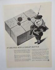 Original Print Ad 1944 BELL TELEPHONE SYSTEM Little Man