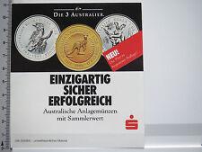 Aufkleber Sticker Sparkasse - Münzen - Australier - Sammler (5314)