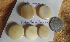 5 Flat Marble-look Shank Vintage Coat Cardigan Buttons (2 at 24mm 3 at 22mm)
