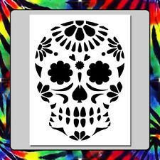 7 X 9 Floral Sugar Skull Face STENCIL Day of the Dead/Mexican Halloween/Death