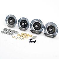 1:10 Metal Sliver Wheel Rim Brake Disc Kit For HSP HPI RC On-Road Racing Car