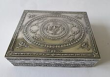 Antik cigarrillos lata lata plata 800er para 1900 Silver Box Arent massif boîte