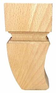 Höhe 120 Holzbeine Ludwik. Möbelfüße Möbelfuß Schrankfuß Sofafuß Holz Buche