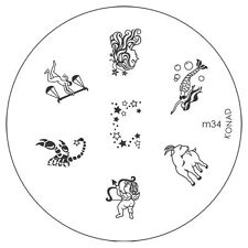Konad stamping galería de símbolos m34 plate Nails Nail Art Stamp