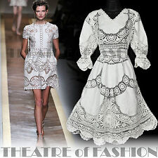 VINTAGE 70s CROCHET DRESS LACE WEDDING SHEER 60s HIPPIE BOHO SUPERMODEL FESTIVAL