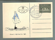 1952 Vienna Austria First Day Postcard Cover # B 279