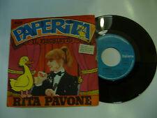 "RITA PAVONE""PAPERITA- disco 45 giri RCA 1979 SIGLA TV"""