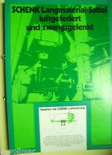 ✪Sales Brochures altes Original PROSPEKT Schenk Langmaterial-Sattel luftgefedert