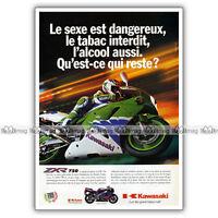 PUB KAWASAKI ZXR 750 ZXR750 750ZXR - Original Advert / Publicité Moto de 1994