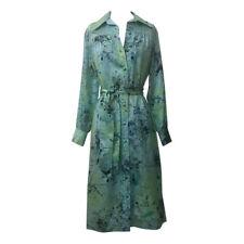Lanvin VTG 1960s Robin's Egg Blue Splatter Paint Belted Shirt Dress L