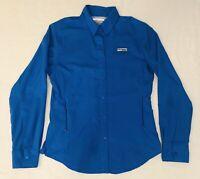 Columbia Women's Size XS PFG Blue Long Sleeve Fishing Outdoor Shirt Monogram