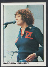 Panini 1980 Rock & Pop Collection - Sticker No 13 - Barbara Dickson  (S270)