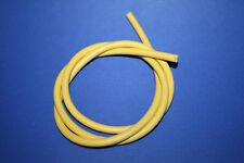 1m CU Silikon Zündkabel gelb * Meterware * 7mm 1,0mm Kupferkern hochwertig ! neu