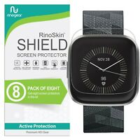 [8-PACK] For Fitbit Versa 2 Screen Protector RinoGear Lifetime USA Made