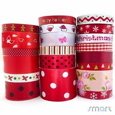 20x1 Yard Cartoon Satin Ribbon 9mm--38mm Assorted 20 Styles Red Theme Craft