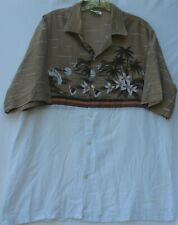 """Vintage Olo Manu short sleeve button front Hawaiian shirt men's 23"""" pit to pit"""