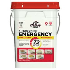 Emergency Food Survival Supply Storage Bucket 4 person 176 Servings Ration Kit