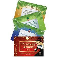 Christmas Film & Movie Quotes Quiz Xmas Party Games Family Eve Box Fillers Fun