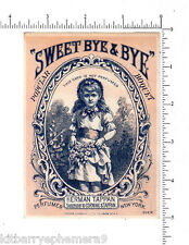 3795 Herman Tappan Sweet Bye & Bye Perfume trade card Corning