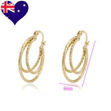 Women's On Trend Fashion Diamond Cut Spiral Hoop Dangle Earrings Wedding-Jewelry