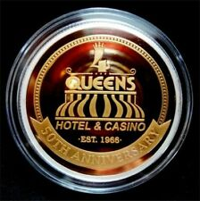 HARD TO FIND / Four Queens - 50th Anniversary 1 oz .999 Fine Silver / Las Vegas