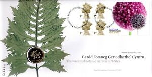 GB 2000 COVER BOTANIC GARDENS OF WALES WITH £1 COIN