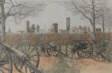 Great MARTIN BARRY Limited Edition Signed Lithograph - Atlanta, GA Skyline