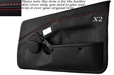 Rojo Stitch 2x Completa Puerta Tarjeta Cuero Skin Tapa se ajusta Toyota Mr2 Mk1