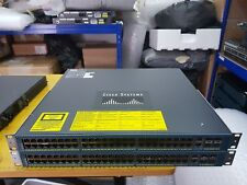 CISCO WS-C4948-S Catalyst Switch DUAL PWR-C49-300AC & BRACKETS Express Delivery