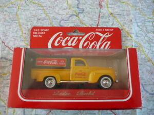 DODGE Plateau Baché Coca Cola Ancienne SOLIDO 1/43