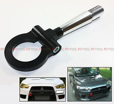 08-2017 LANCER EVO X 10 MR BLK FRONT/REAR FOLDING SCREW ON STYLE RACING TOW HOOK