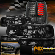 2000-2006 Chevy Suburban Tahoe Smoke Headlights + LED Smoke Tail Lights + Signal