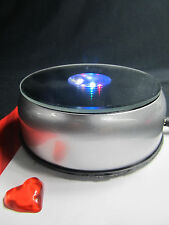 """3D Laser Crystal Trophy -7 LED Lights 4"""" Rotate Stand Display Base AC/DC Adapter"""