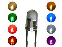 S255 SET 16 Stk. Flacker LEDs 3mm rot gelb grün blau weiß warmweiß orange pink