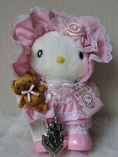 """2005 Sanrio Japan POUR LOLITA WHITE EDITION Hello Kitty Doll Plush 9"""" NECKLACE"""
