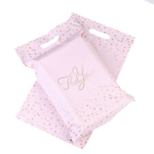 10PCS 9.8x14.5 in Pink Thank You Mailer Adhesive Envelopes Bags Courier Shippin~