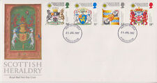 UNADDRESSED GB ROYAL MAIL FDC 1987 SCOTTISH HERALDRY STAMP SET PLYMOUTH PMK